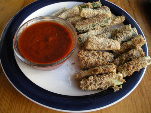 breaded zucchini sticks