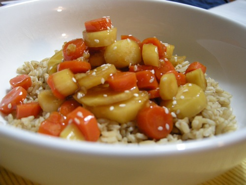 Maple Glazed Tofu & Vegetables Recipe