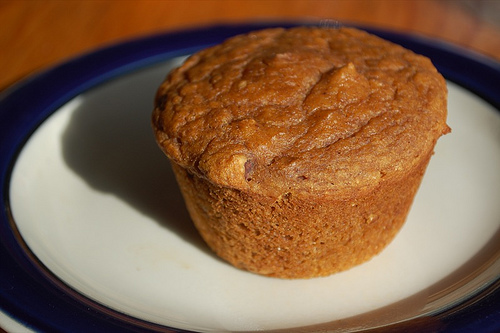 Vegan Whole Wheat Fat-Free Maple-Kissed Pumpkin Muffins R...