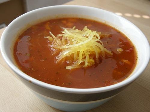 tomato soup with spaghetti squash