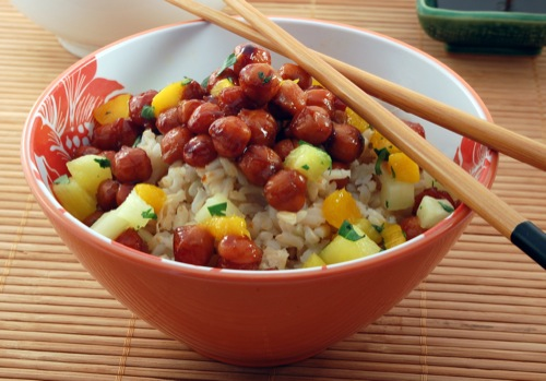 photo of Hawaiian Chickpea Teriyaki