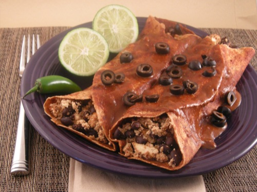 Picture of Smoky Black Bean Enchiladas
