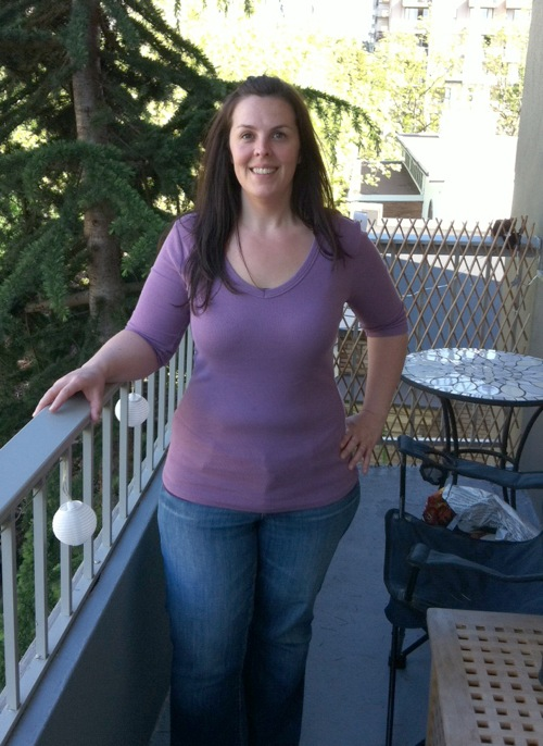 same woman after losing about 85 pounds