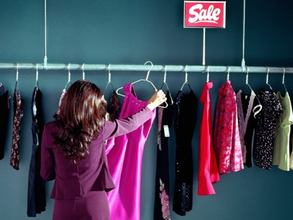at sale photo royalty in a store clothing discount stock clothes image free sign rack