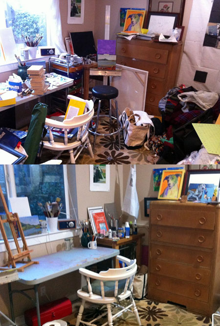 Minimalist monday virtual minimalist declutter party cha - Declutter before and after ...