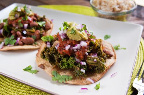 Chipotle Pinto Bean & Kale Tostadas