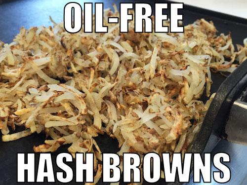 Oil-Free Hash Browns Recipe (1 ingredient, 3 steps!)