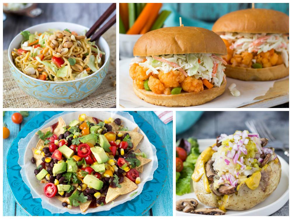 NY Deli Taters, Spicy Peanut Noodle Salad, Sloppy Buffalo...