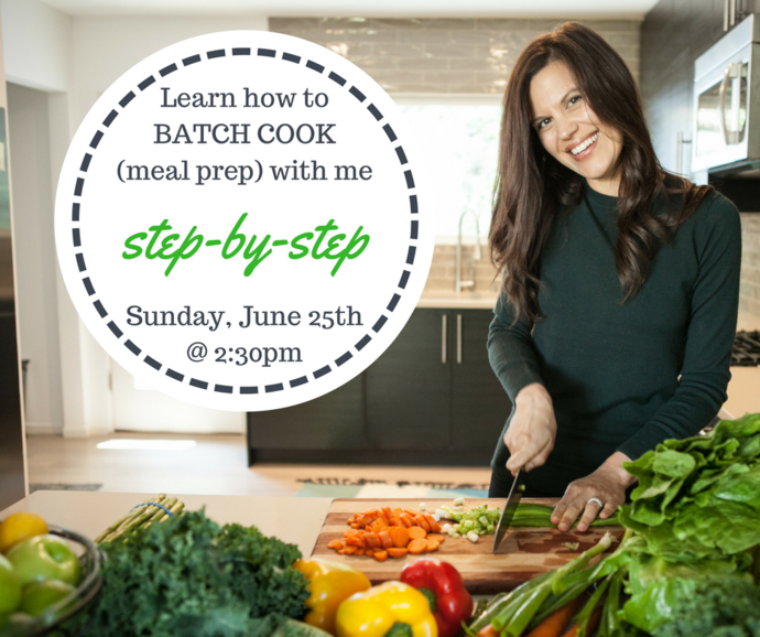Learn how to Batch Cook (Meal Prep) with me FREE- tomorrow!