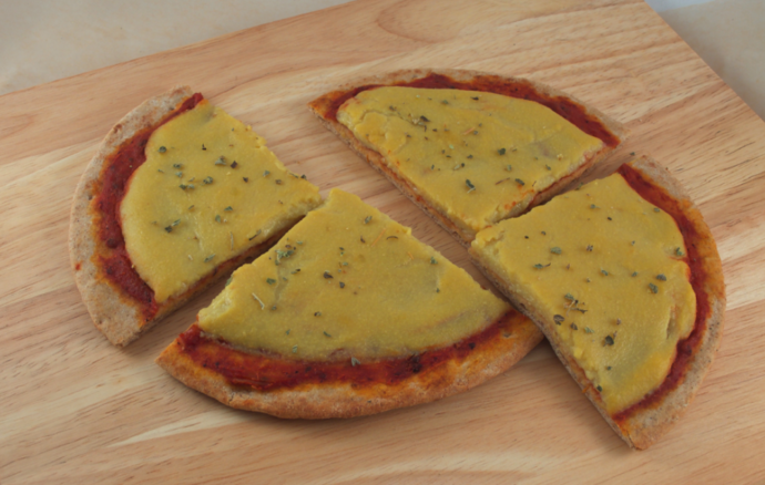 photo of Melty Vegan Pizza Cheese