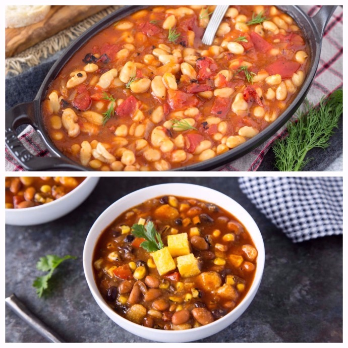 Gigantes (Greek-Style Baked Beans) and Hot Tamale Soup