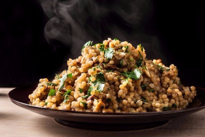 Toasted Israeli Couscous Pilaf
