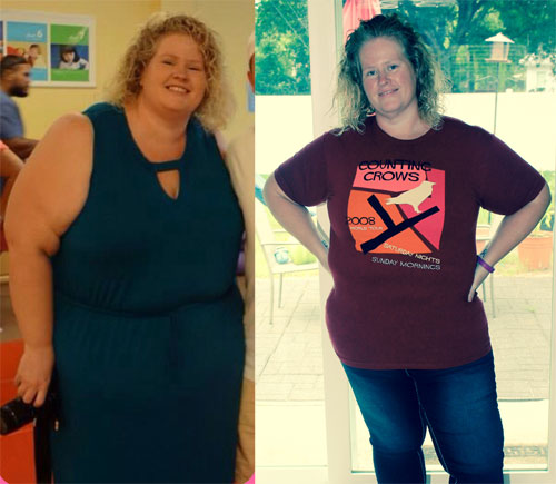 Amy's vegan before and after
