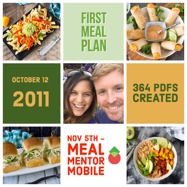 Since our first meal plan October 12, 2011, we've created 364 PDF meal plans.